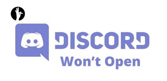 Discord Won't Open
