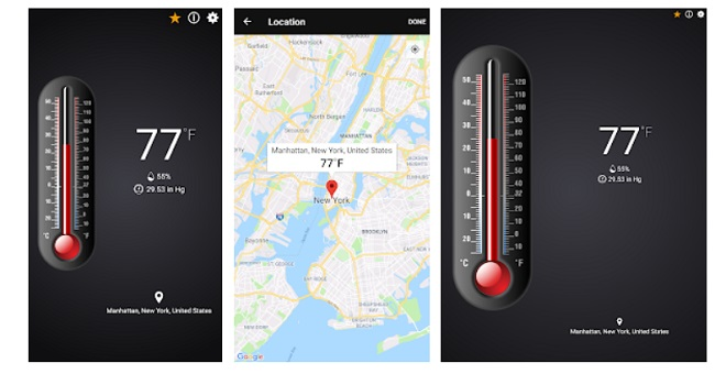Free Thermometer app