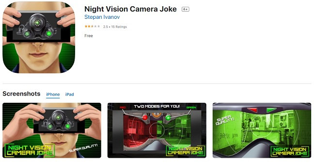 night vision app for android